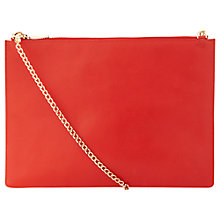 Buy Whistles Rivington Chain Pouch Leather Bag, Red Online at johnlewis.com