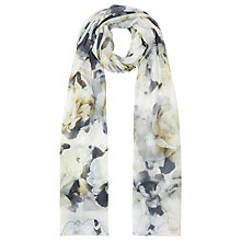 Buy Kaliko Outline Floral Scarf, Green Online at johnlewis.com