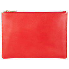 Buy Whistles Medium Leather Clutch, Red Online at johnlewis.com