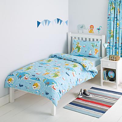 little home at John Lewis Globe Trotter Duvet and Pillowcase Set, Single