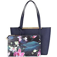 Buy Ted Baker Phoebie Crosshatch Shopper Bag, Navy Online at johnlewis.com