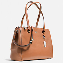 Buy Coach Crossgrain Leather Mini Double Zip Across Body Bag, Tan Online at johnlewis.com