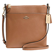 Buy Coach Courier Leather Across Body Bag Online at johnlewis.com