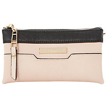 Buy Dune Kleo Colour Block Triple Pouch Clutch Bag, Nude Online at johnlewis.com