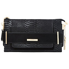 Buy Dune Emma Snake Print Clutch Bag, Black Online at johnlewis.com