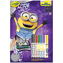 Buy Crayola Minions Colour Alive Set Online at johnlewis.com