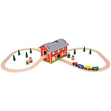 Buy Bigjigs Railway Station Carry Set Online at johnlewis.com
