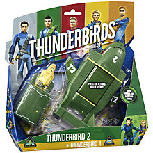 Buy Thunderbirds Are Go Thunderbird 2 + Thunderbird 4 Vehicle Set Online at johnlewis.com