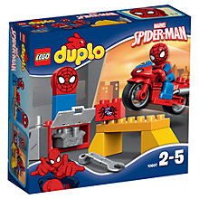 Buy LEGO DUPLO Spider-Man Web Bike Workshop Set Online at johnlewis.com