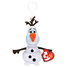 Buy Ty Disney Frozen Olaf Beanie Key Clip Online at johnlewis.com