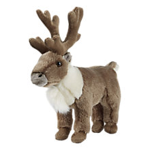 Buy Hansa Hand Sewn Standing Reindeer Soft Toy Online at johnlewis.com