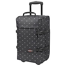 Buy Eastpak Tranverz 2-Wheel Small Suitcase, Lill' Dot Black Online at johnlewis.com