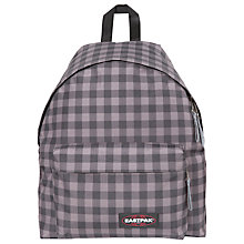 Buy Eastpak Padded Pak'R Backpack, Simply Check Grey Online at johnlewis.com