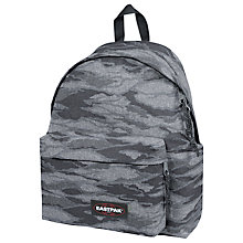 Buy Eastpak Padded Pak'R Backpack, Cam Cloud Grey Online at johnlewis.com