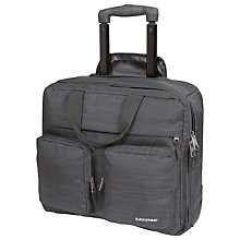"Buy Eastpak Linked Roisterz 16"" Laptop 2-Wheel Suitcase, Melange Black Online at johnlewis.com"