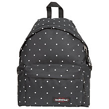 Buy Eastpak Padded Pak'R Backpack, Lill' Dot Black Online at johnlewis.com
