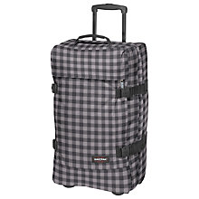 Buy Eastpak Tranverz 2-Wheel Medium Suitcase, Simple Check Grey Online at johnlewis.com