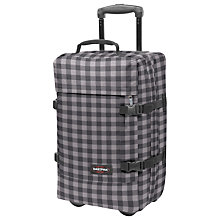 Buy Eastpak Tranverz 2-Wheel Small Suitcase, Simple Check Grey Online at johnlewis.com