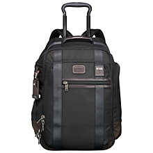 Buy Tumi Alpha Bravo Peterson Wheeled Carry On Backpack, Black Online at johnlewis.com