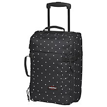 Buy Eastpak Tranverz 2-Wheel Extra Small Cabin Suitcase, Lill' Dot Black Online at johnlewis.com