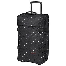 Buy Eastpak Tranverz 2-Wheel Medium Suitcase, Lill' Dot Black Online at johnlewis.com