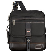 Buy Tumi Annapolis Zip Flap Messenger Bag, Black Online at johnlewis.com