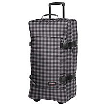 Buy Eastpak Tranverz Large 2-Wheel Suitcase, Simply Check Grey Online at johnlewis.com