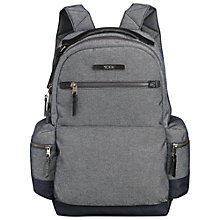 "Buy Tumi Dalston Massie 13"" Laptop Backpack, Masonry Grey Online at johnlewis.com"