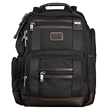 Buy Tumi Alpha Bravo Kingsville Deluxe Laptop Backpack, Black Online at johnlewis.com