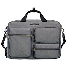 Buy Tumi Dalston Tyssen Double Zip Briefcase, Masonry Grey Online at johnlewis.com