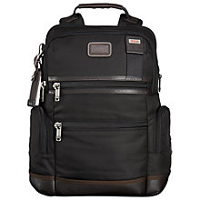 Buy Tumi Alpha Bravo Knox Backpack, Black Online at johnlewis.com
