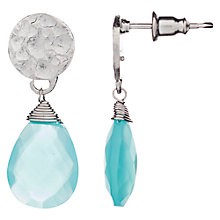 Buy Azuni Faceted Stone Hammered Disc Drop Earrings Online at johnlewis.com