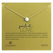 Buy Dogeared 14ct Gold Plated Freshwater Pearl Pendant Neckalce, Gold Online at johnlewis.com