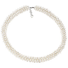 Buy Lido Rhodium Plated Freshwater Pearl Statement Necklace, White Online at johnlewis.com