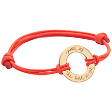 Buy Merci Maman 18ct Gold Plated Best Is Yet To Come Bracelet, Gold Online at johnlewis.com