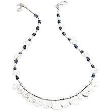 Buy Azuni Cleo Coin Necklace, Labradorite Online at johnlewis.com