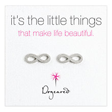 Buy Dogeared Sterling Silver Infinity Stud Earrings, Silver Online at johnlewis.com