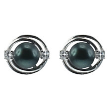 Buy Lido Rhodium Plated Freshwater Pearl Cubic Zirconia Stud Earrings Online at johnlewis.com