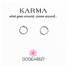 Buy Dogeared Sterling Silver Sparkle Karma Stud Earrings, Silver Online at johnlewis.com