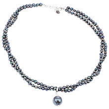 Buy Lido Rhodium Plated Pearl Twist Necklace Online at johnlewis.com