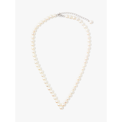 Lido Pearls Freshwater Pearl V Necklace, White