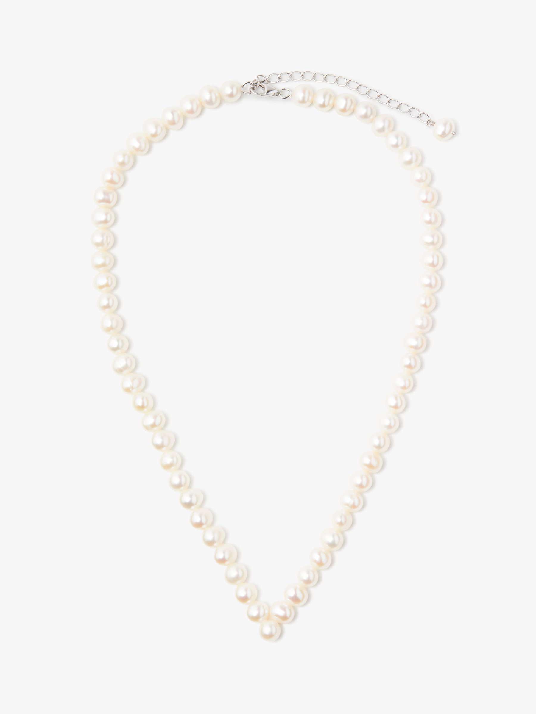 Lido Pearls Lido Pearls Freshwater Pearl V Necklace, White