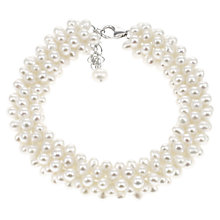 Buy Lido Rhodium Plated Pearl Freshwater Statement Bracelet, White Online at johnlewis.com