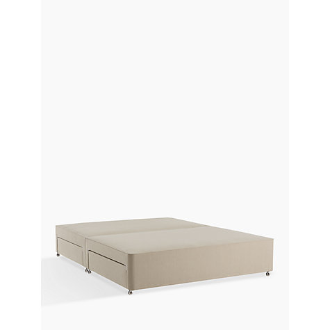 Buy John Lewis Natural Collection 4 Drawer Canvas Covered Sprung Divan Storage Bed Fsc