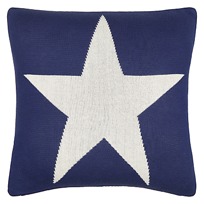 Image of little home at John Lewis Stars & Stripes Cushion, Red/Blue