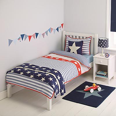 little home at John Lewis Stars & Stripes Duvet Cover and Pillowcase Set, Single
