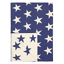 Buy little home at John Lewis Stars & Stripes Throw, Blue/White Online at johnlewis.com