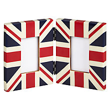 "Buy John Lewis Union Jack Double Photo Frame, 2 x 3"" Online at johnlewis.com"