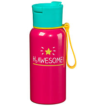 Buy Happy Jackson 'H2 Awesome' Water Bottle, 600ml Online at johnlewis.com