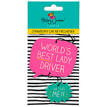 Buy Happy Jackson 'World's Best Lady Driver' Air Freshner Online at johnlewis.com